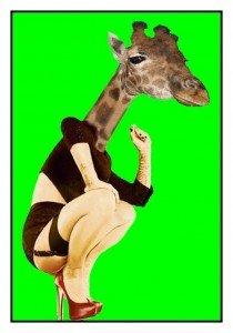 Philippe Parrot : Femme girafe dans Bestiaire fantastique girafe-210x300