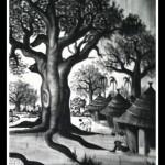 Khaly NDIAYE : Peintures en noir et blanc