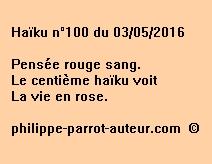 Haïku n°100 du 030516