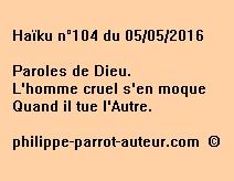 Haïku n°104 du 050516