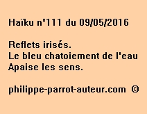 Haïku n°111 du 090516