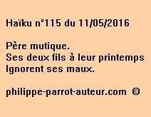 Haïku n°115 du 110516