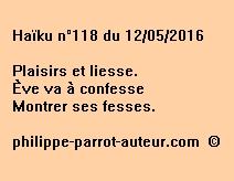 Haïku n°118 du 120516