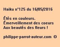 Haïku n°125 du 160516