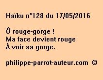Haïku n°128 du 170516