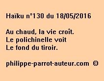 Haïku n°130 du 180516
