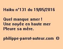 Haïku n°131 du 190516  fuw