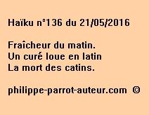 Haïku n°136 du 210516
