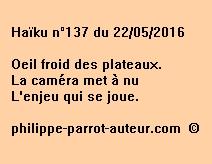 Haïku n°137 du 220516