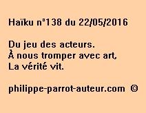 Haïku n°138 du 220516