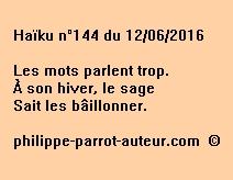 Haïku n°144 du 120616