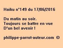 Haïku n°149 du 170616