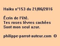 Haïku n°153 du 210616