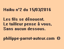 Haïku n°2 du 150316
