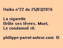 Haïku n°22 du 250316