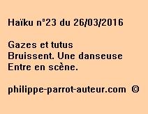 Haïku n°23 du 260316