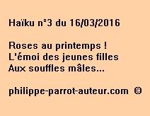 Haïku n°3 du 160316