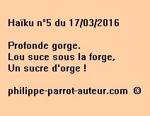 Haïku n°5 du 170316