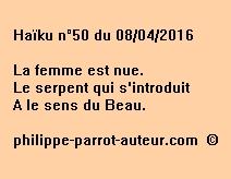 Haïku n°50 du 080416
