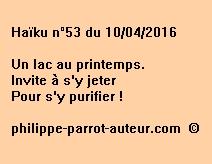 Haïku n°53 du 100416