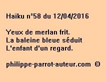 Haïku n°58 du 120416