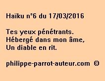 Haïku n°6 du 170316