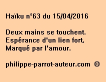 Haïku n°63 du 150416