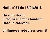 Haïku n°64 du 150416