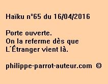 Haïku n°65 du 160416