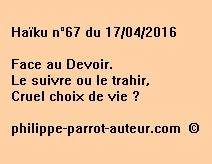 Haïku n°67 du 170416