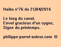 Haïku n°76 du 210416