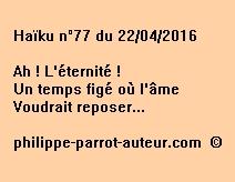 Haïku n°77 du 220416