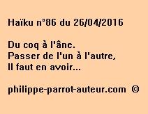 Haïku n°86 du 260416