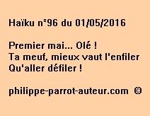 Haïku n°96 du 010516