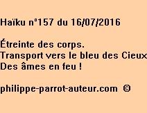 Haïku n°157 du 160716