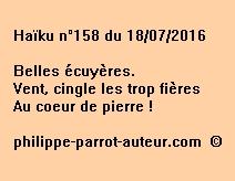 Haïku n°158 du 180716