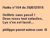 Haïku n°164 du 260716