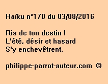 Haïku n°170 du 030816