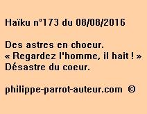 Haïku n°173 du 080816