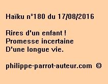 Haïku n°180 du 170816