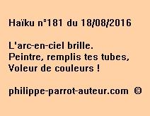 Haïku n°181 du 180816