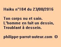 Haïku n°184 du 230816