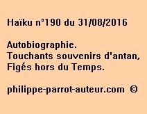 Haïku n°190 du 310816