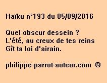 Haïku n°193 du 050916