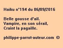 Haïku n°194 du 060916
