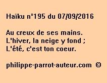 Haïku n°195 du 070916