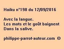 Haïku n°198 du 120916
