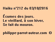 Haïku n°212 du 031016