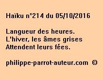 Haïku n°214 du 051016