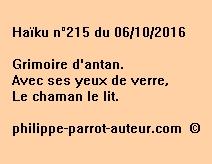 Haïku n°215 du 061016